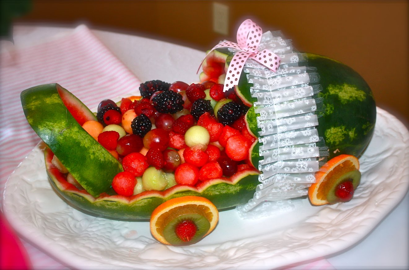 100 Watermelon Baby Shower Baby Carriage Catering By Georgianna Baby Shower Time Cooking