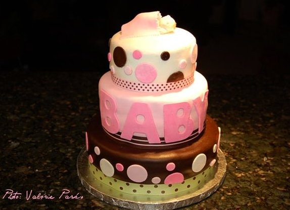 Marshmallow Fondant Baby Shower Cake