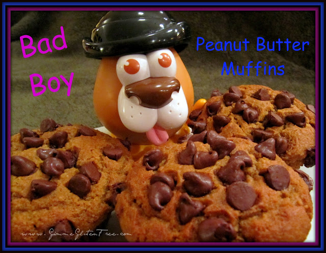 """Bad Boy"" Peanut Butter Chocolate Chip Muffins"