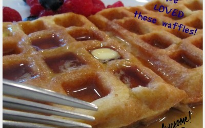 Amazingly Happy (Healthy) Belgian Waffles