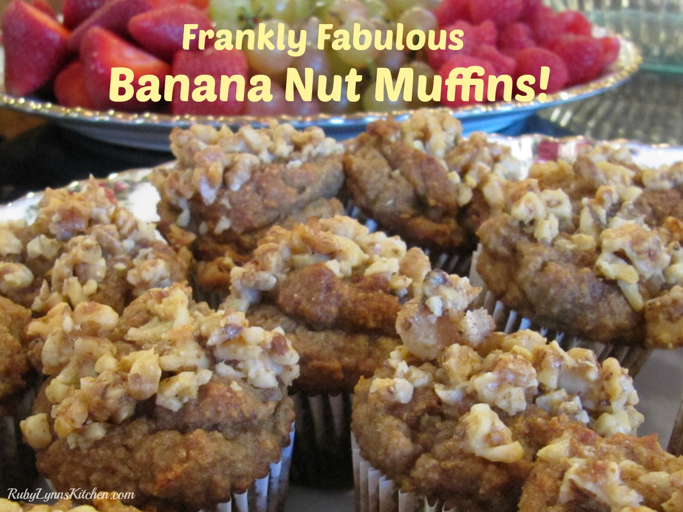 Frankly Fabulous Paleo Banana Nut Muffins