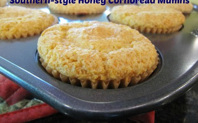 Real Southern-style Honey Cornbread Muffins
