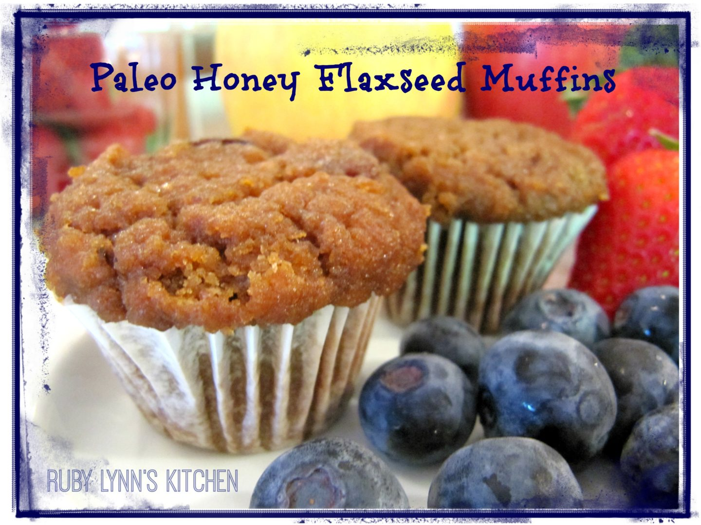 Delicious, soft and healthy Paleo Honey Flaxseed Muffins