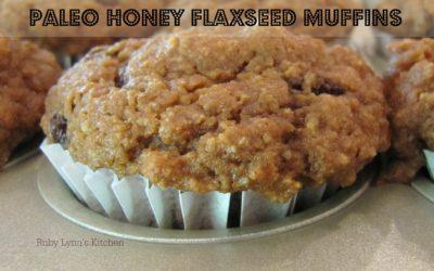 Paleo Honey Flaxseed Muffin Recipe