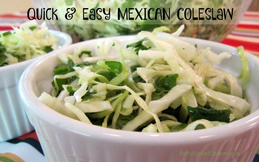 Quick and Easy Mexican Coleslaw
