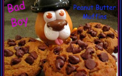 """Bad Boy"" Peanut Butter Chocolate Chip Muffins"